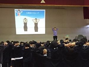 1月8日奈良中学校講演
